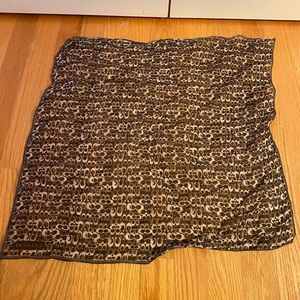 COACH Black/Metallic Classic Pattern Scarf